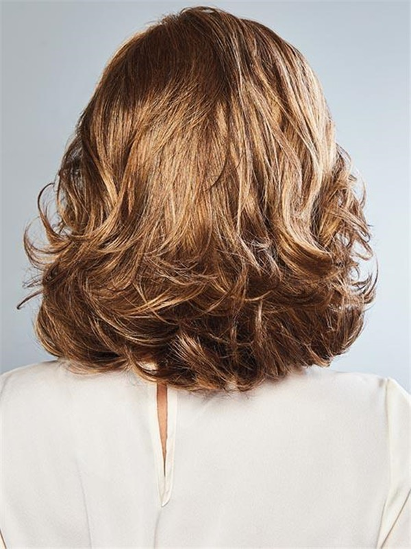 Straight Rooted Bouncy Synthetic Lace Front Wig For Women