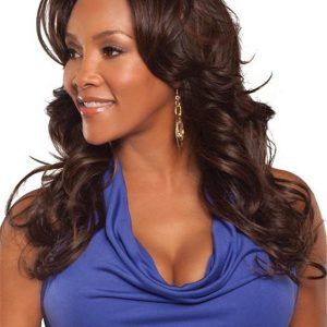 Long Hf Synthetic Lace Front Wig Basic Cap For Women