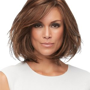 Straight Mid-length Synthetic Lace Front Wig Ht For Women