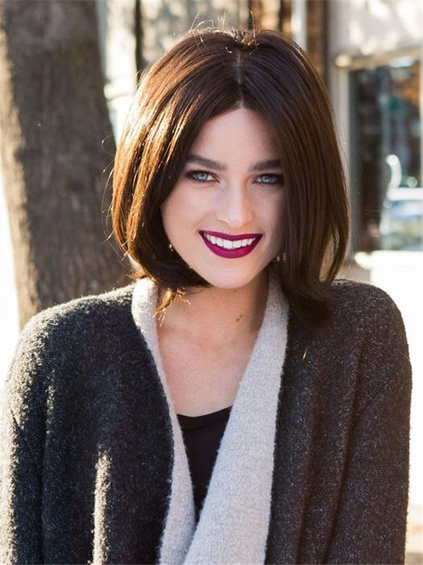 Short Mid-length Synthetic Lace Front Wig Ht For Women