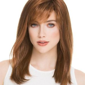 Long Straight Mid-length Synthetic Wig Mono Crown For Women