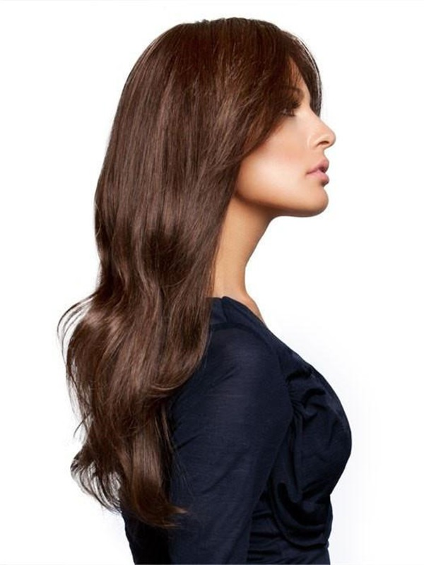 Long Human Hair Lace Front Wig Hand-tied For Women