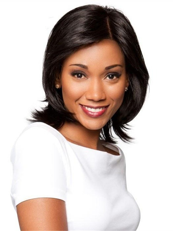 Mid-Length Synthetic Lace Front Wig Mono Part for Women