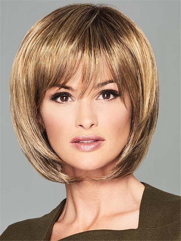 Straight Synthetic Wig Basic Cap For Women