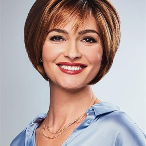 Short Synthetic Lace Front Wig Hand-tied Top For Women