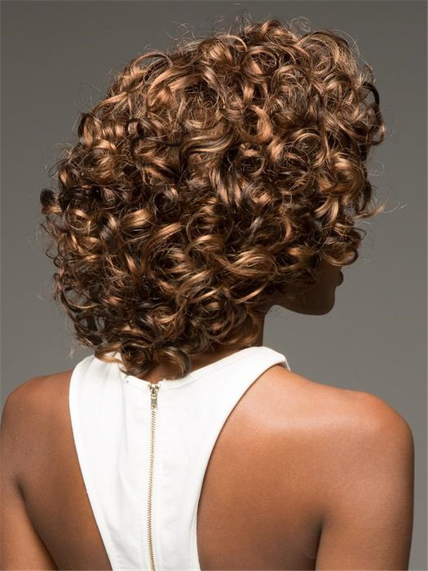 Curly Chilli Synthetic Lace Front Wig Basic Cap For Women