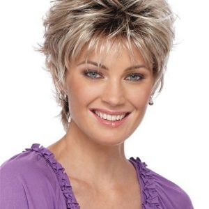 Short Curly Synthetic Wig Basic Cap For Women