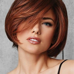 Short Straight Heat Friendly Synthetic Wig For Women