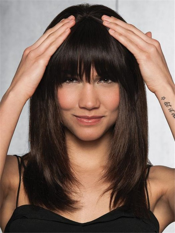 Clip-In Human Hair Fringe Bang Human Hair