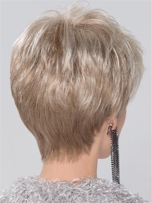 Short Straight Synthetic Lace Front Wig For Women