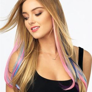Color Strip HF Synthetic Hair Extension
