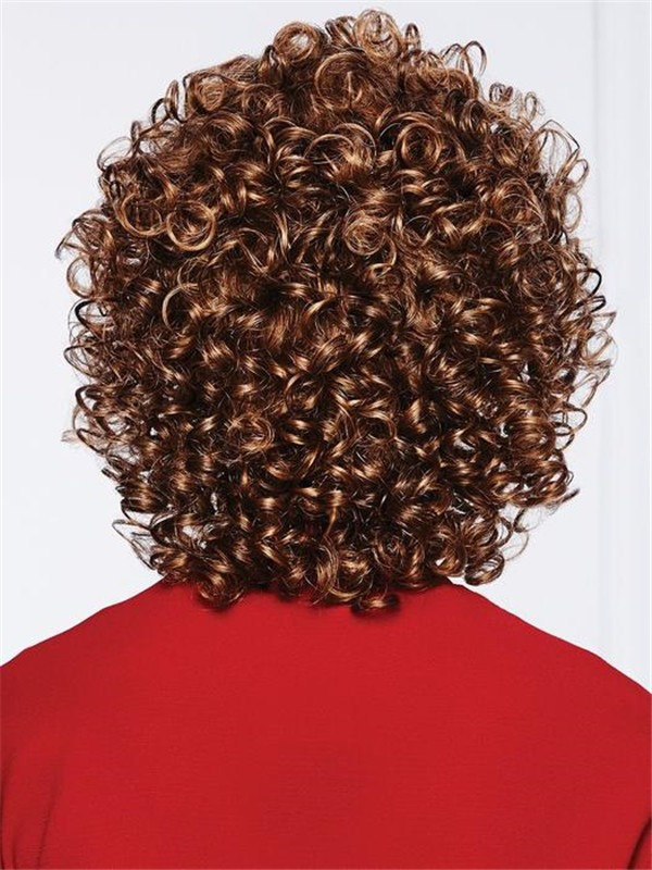 Short Curl Synthetic Lace Front Wig Basic Cap For Women