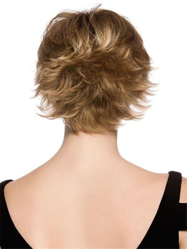 Short Synthetic Wig Mono Crown For Women