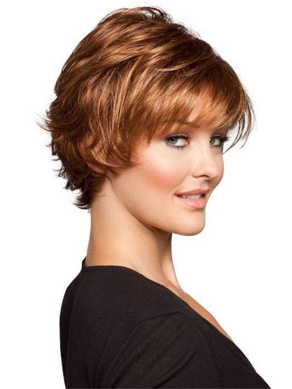 Short Straight Date Synthetic Wig Mono Crown For Women