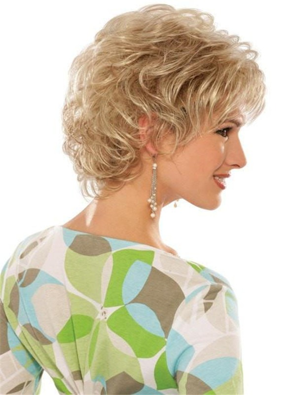 Curly Synthetic Wig Basic Cap For Women