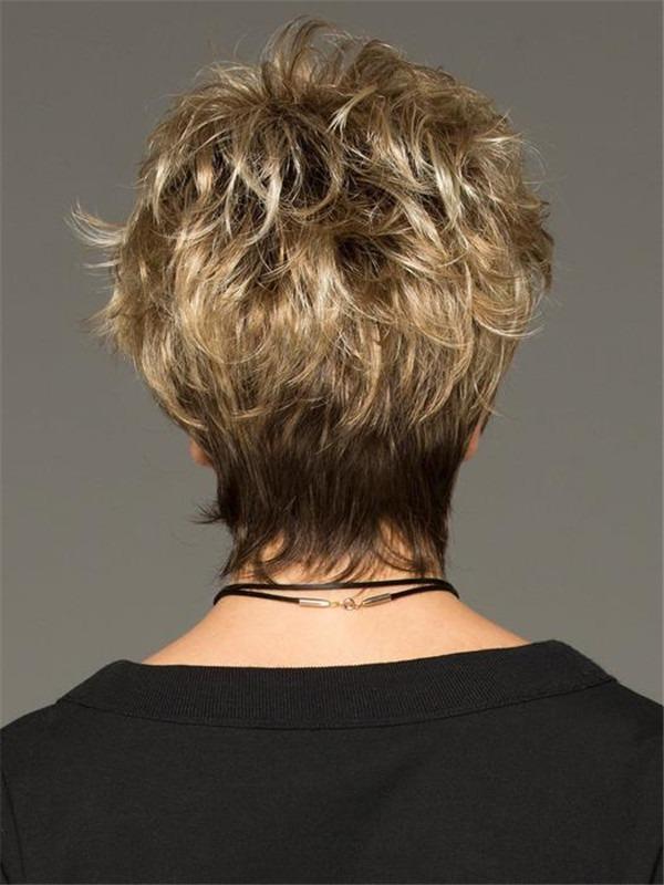 Short Drew Short Synthetic Wig Basic Cap For Women
