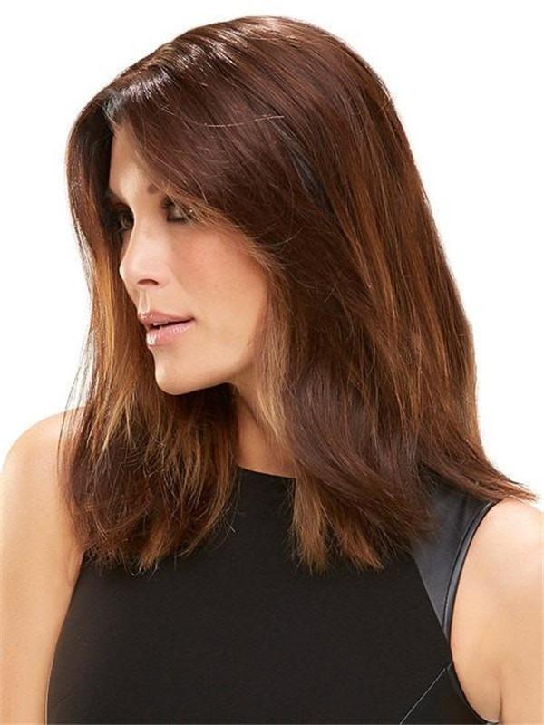 Half HF Synthetic Hair Topper Mono Top
