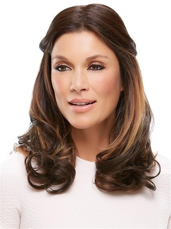 """Easipart Hd Xl 18"""" Hf Synthetic Hair Topper Half"""