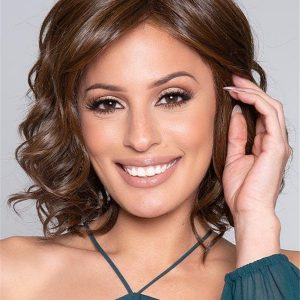Short Layered HF Synthetic Lace Front Wig Mono Top for Women