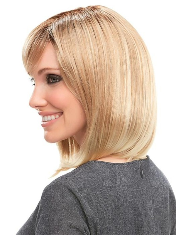 Straight Synthetic Lace Front Wig Mono Top For Women