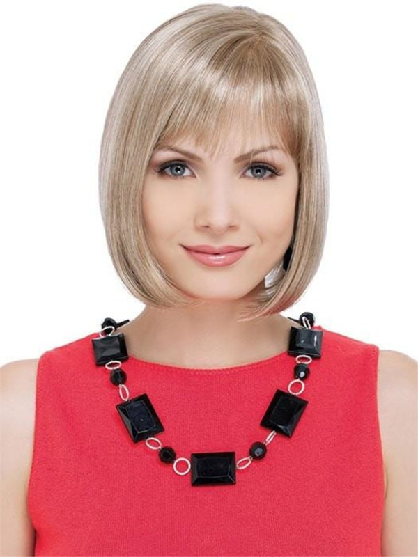 Mid-length Synthetic Wig Mono Top For Women