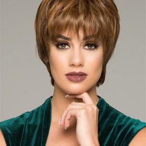 Short Straight Hf Short Synthetic Wig Basic Cap For Women