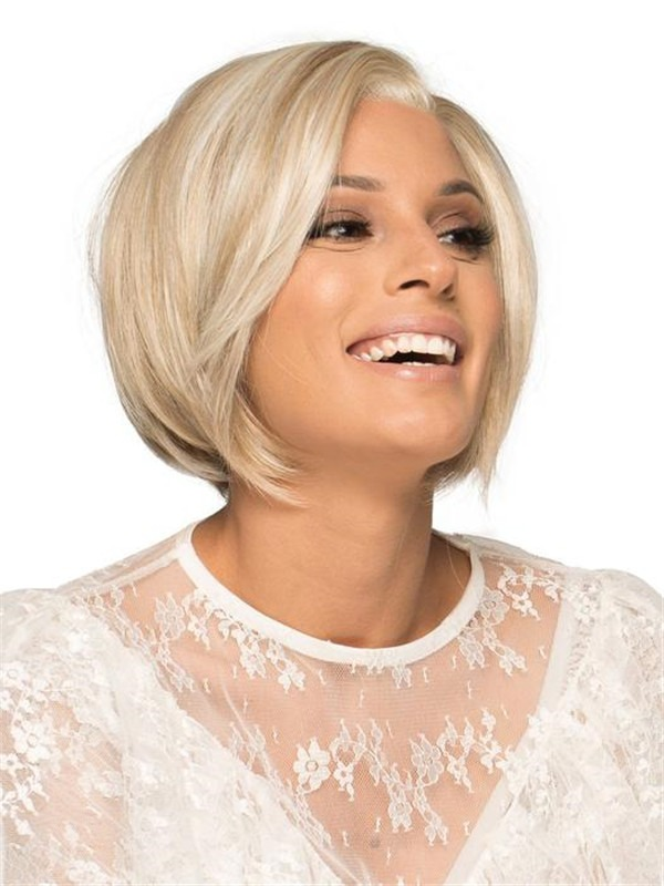 Short Lace Front Wig Mono Part For Women