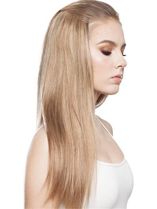 Fall-H Human Hair Half Wig Clip All Hairpieces