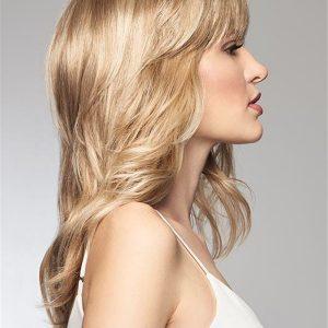 Faux Fringe Synthetic Hair Topper Mono Part Half