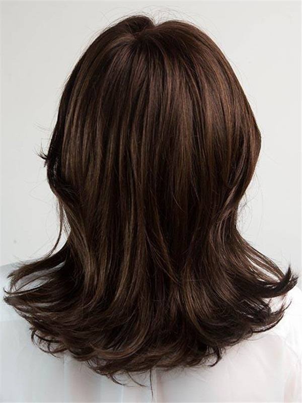 Short Rooted Synthetic Lace Front Wig For Women