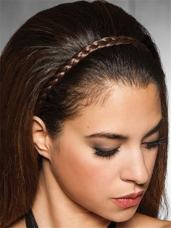 French Braid Band Synthetic All Hairpieces