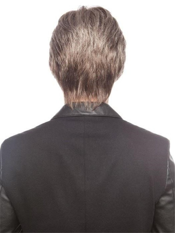 Short Synthetic Lace Front Wig Hand-tied For Men
