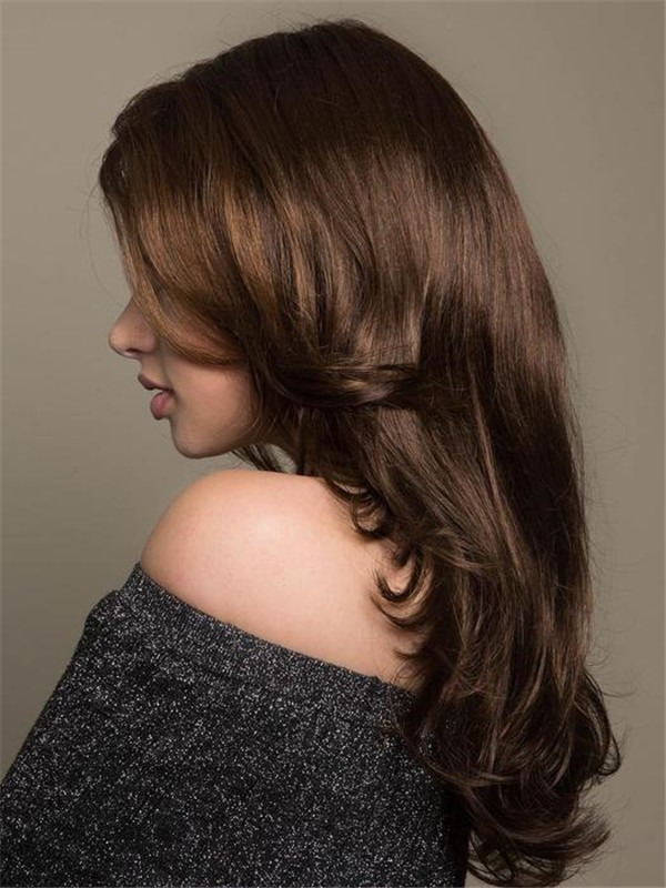 Long Curly Synthetic Wig Mono Crown For Women