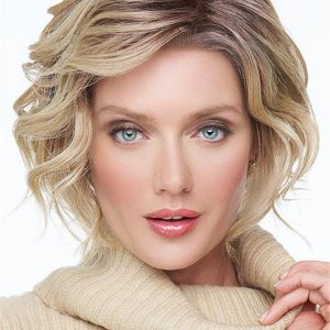 Curly Hf Synthetic Lace Front Wig Mono Part For Women