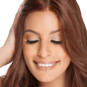 Straight Mid-length Human Hair Lace Front Wig Hand-tied For Women