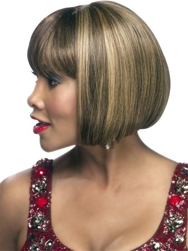 Mid-length Human Hair Wig Skin Part For Women