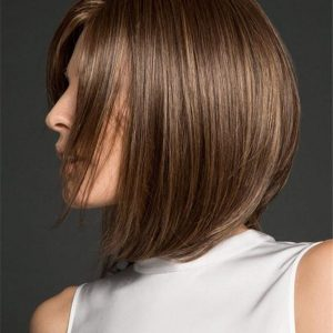 Mid-length Straight Synthetic Wig Basic Cap For Women