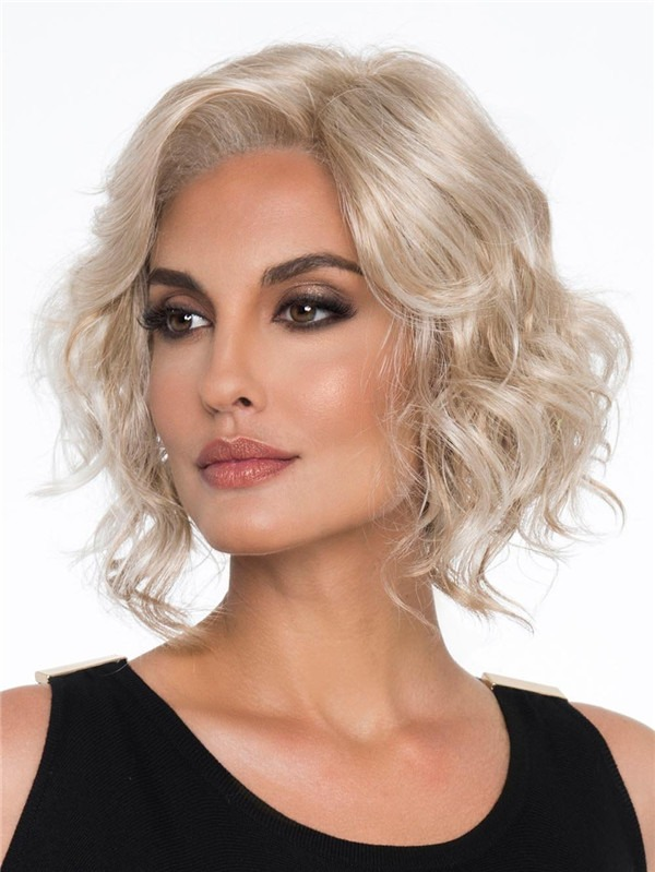 Wavy Synthetic Lace Front Wig Mono Top For Women