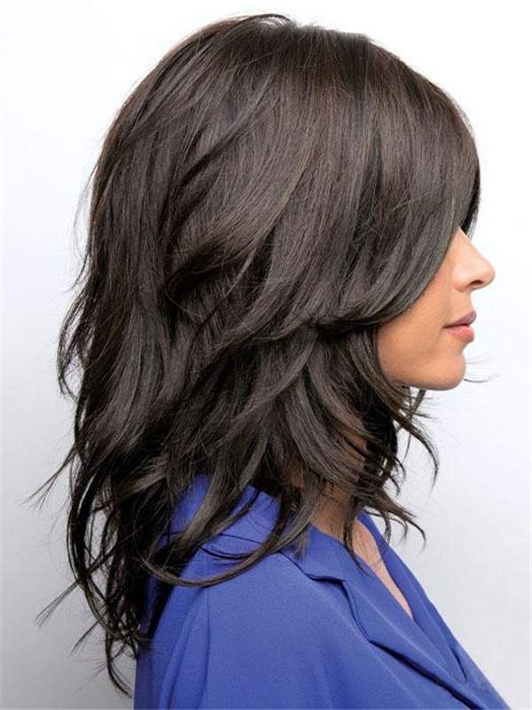 Wavy Rooted Synthetic Lace Front Wig For Women