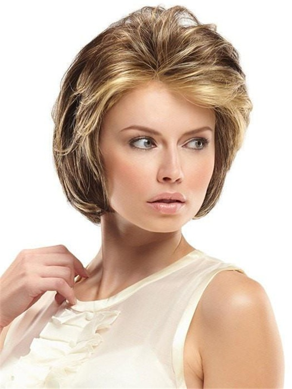 Short Synthetic Lace Front Wig Basic Cap For Women