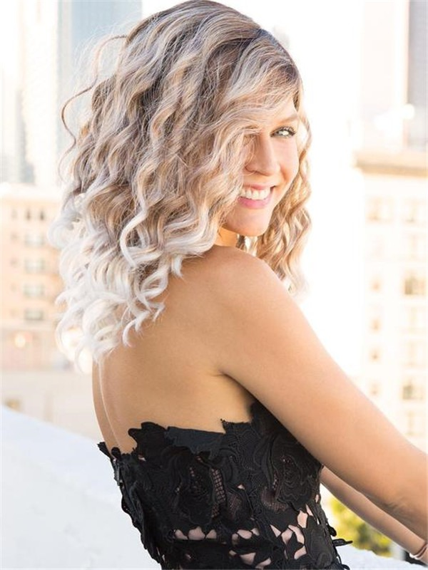 Curly Hudson Synthetic Lace Front Wig For Women