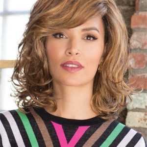 Curly Mid-Length Synthetic Lace Front Wig