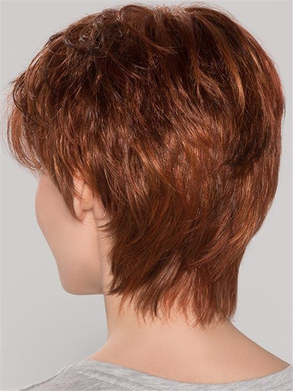 Short Straight Synthetic Lace Front Wig Mono Crown