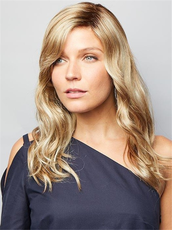 Long Wavy Synthetic Lace Front Wig Mono Part For Women