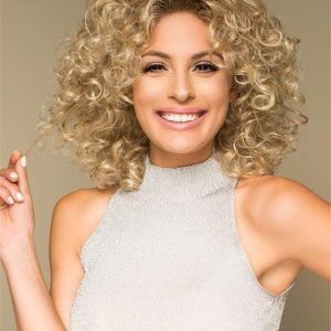 Curly Synthetic Lace Front Wig Basic Cap For Women