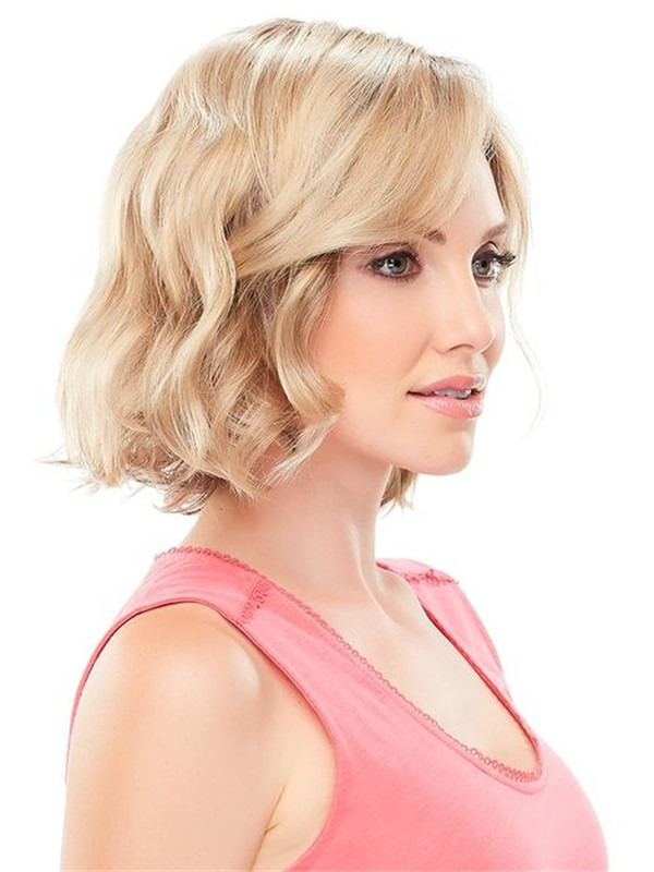 Short Rooted January Synthetic Lace Front Wig For Women