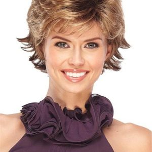 Short Rooted Synthetic Wig Basic Cap For Women