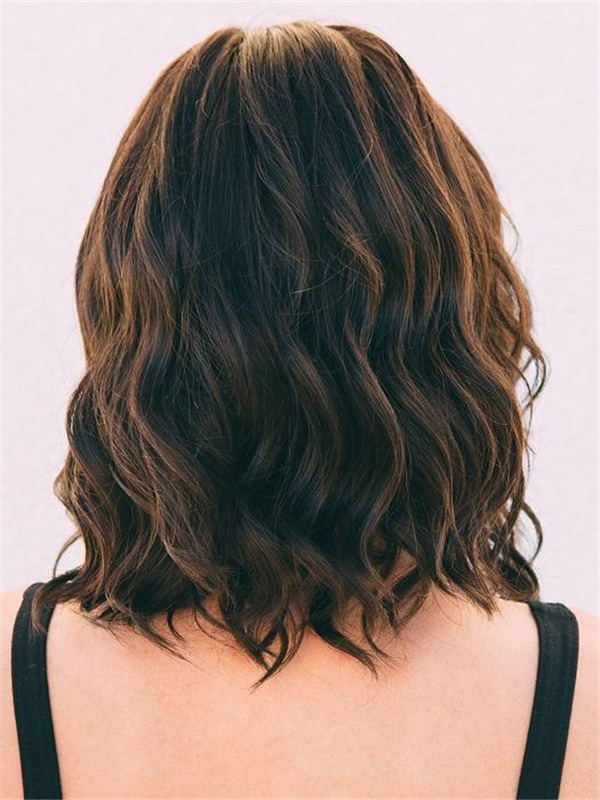 Mid-length Synthetic Lace Front Wig Ht For Women