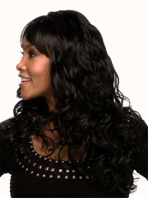 Curly Long Synthetic Wig Basic Cap For Women