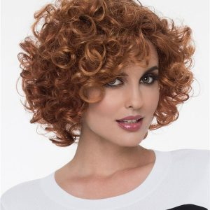 Short Curly Synthetic Wig Mono Crown For Women